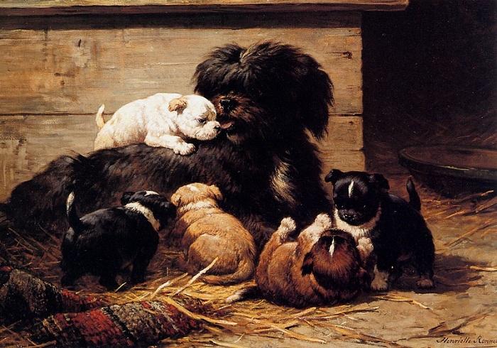 «Собака со щенками». Автор: Генриетта Роннер-Книп.