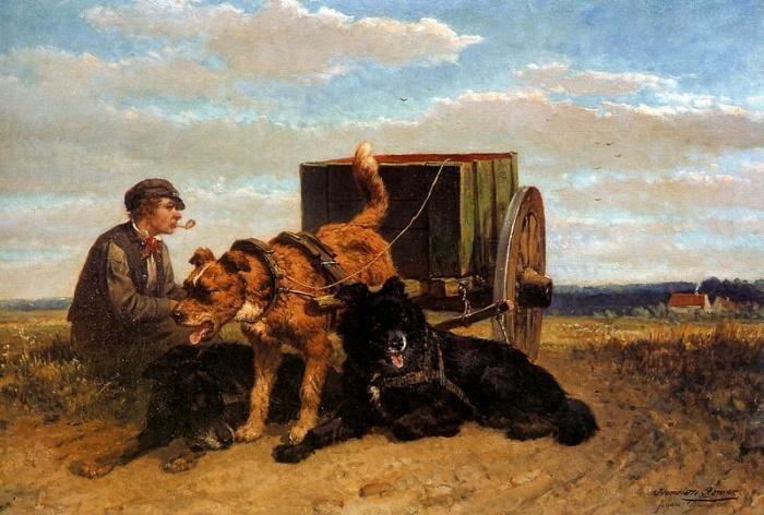 «Собаки помощники». Автор: Генриетта Роннер-Книп.