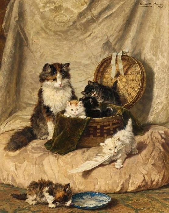 Играющие котята. 1898. Холст, масло. 91 х 73 см. В 2006 году на аукционе картина продана за 429 тысяч долларов.