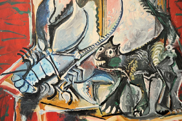 «Кошка и омар». (1965). Автор: Пабло Пикассо.