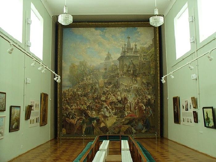 «Воззвание Минина к нижегородцам в 1611 году» в Гербовом зале городской думы.