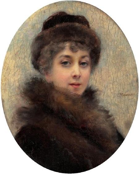 Портрет жены художника Марии Алексеевны. Автор: К.Е. Маковский.