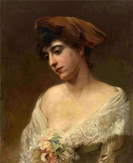 Портрет в красном берете (Юлия Маковская)