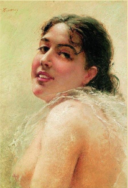 Портрет Юлии  Маковской. (1890). Автор: К.Е. Маковский.