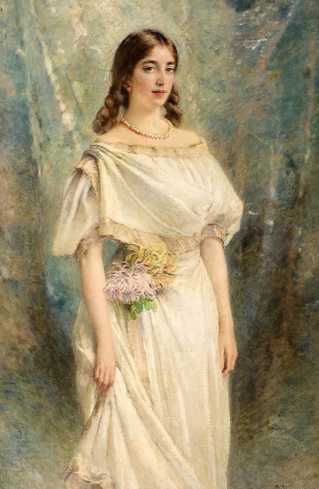 Портрет дочери художника. Ольги. Автор: К.Е. Маковский.