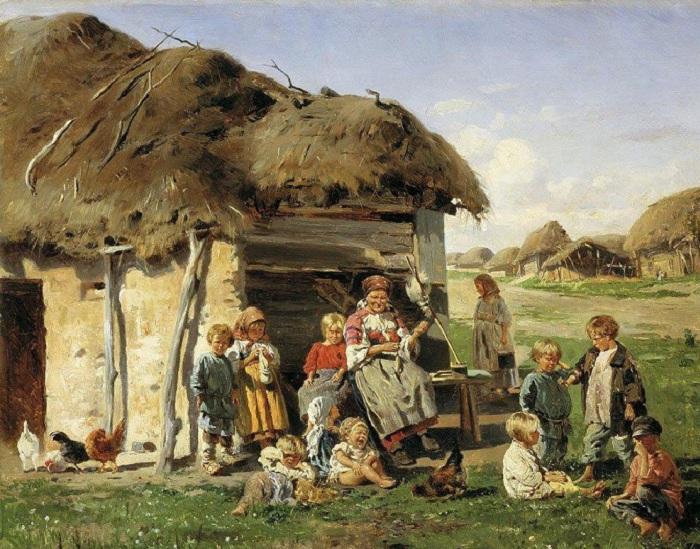 «Крестьянские дети», 1890, Харьковский художественный музей.