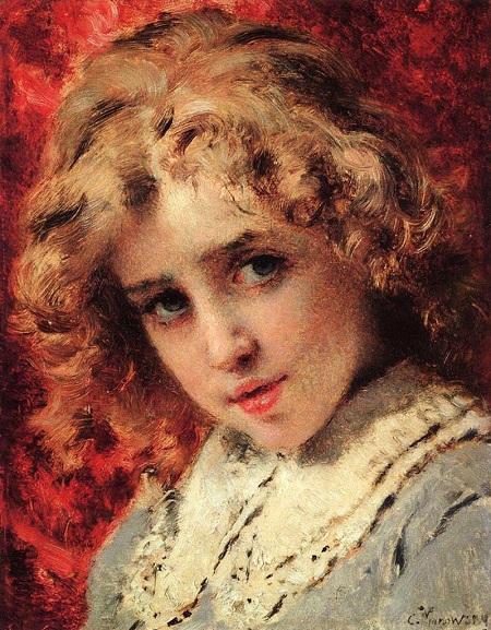 Портрет сына Константина. Конец 1890-х. Автор: Константин Маковский.