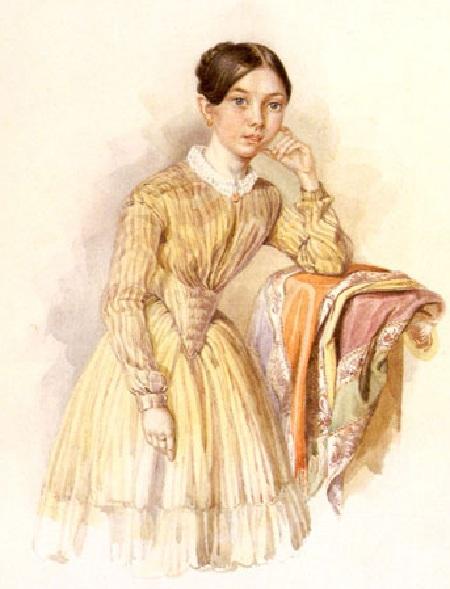 Александра Маковская, дочь. Автор: Е.И. Маковский