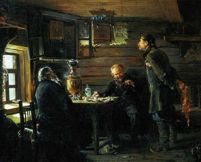 Любители соловьев. (1872-1873). Государственная Третьяковская галерея.