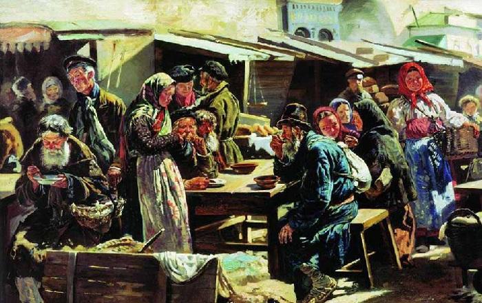 Этюд к картине «Толкучий рынок в Москве» (1875). Государственная Третьяковская галерея.