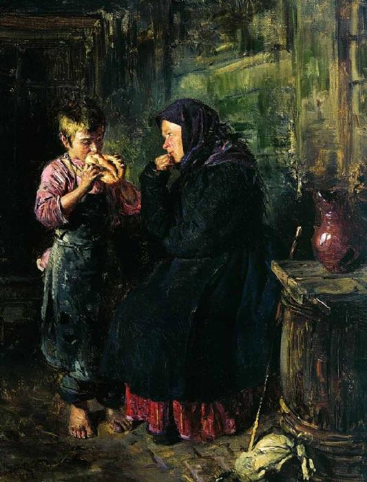 Свидание. (1883). Автор: Владимир Маковский.