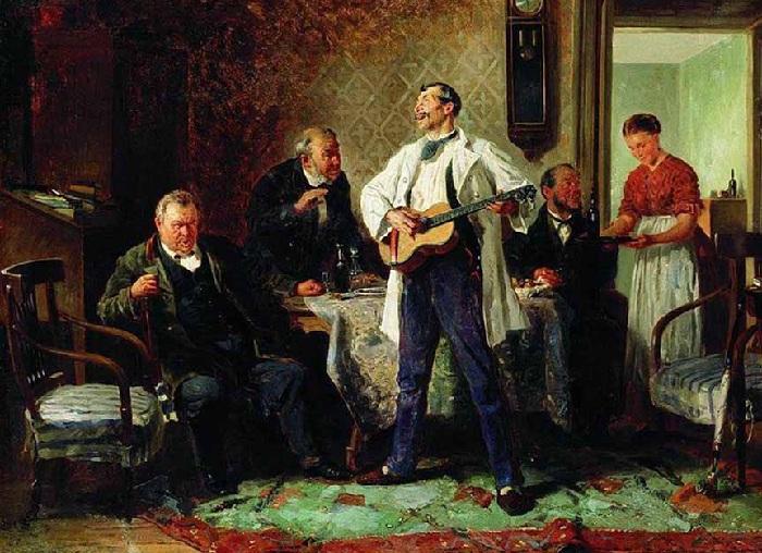 «Друзья-приятели» (1878). Челябинская картинная галерея.