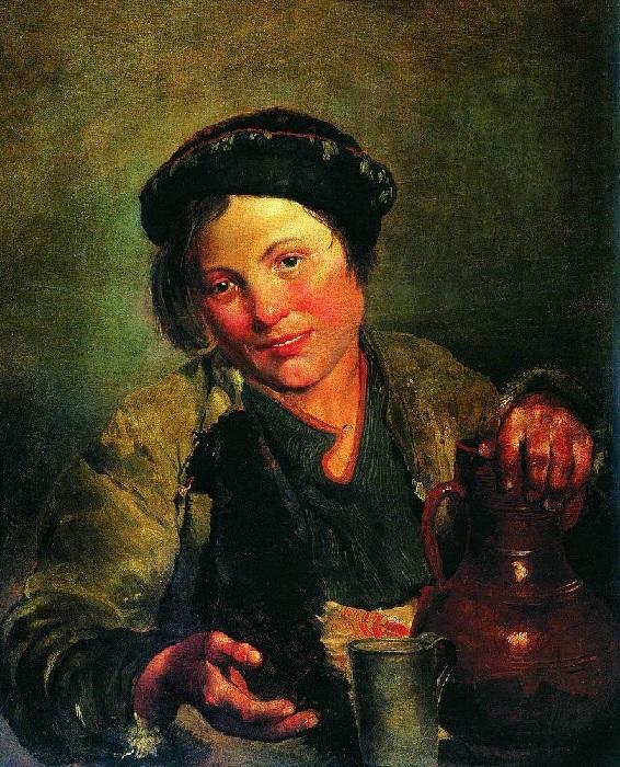 «Мальчик, продающий квас». (1861). Автор: Владимир Маковский.