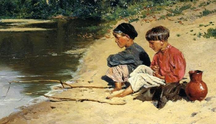 «Рыбачки». (1886). Краснодарский краевой художественный музей.