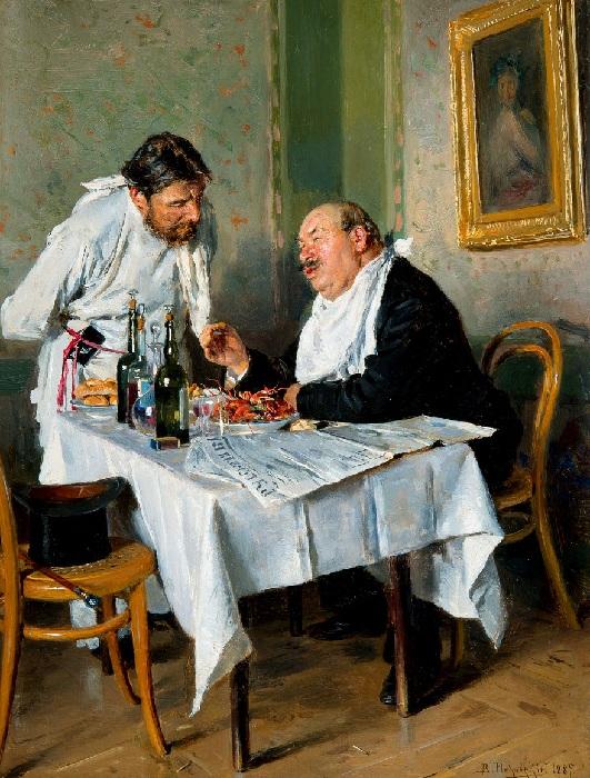 «В трактире». (1887).