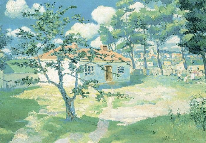 Цветущие яблони. Около 1930. Государственный Русский музей, С.-Петербург