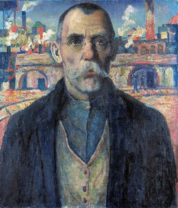 Портрет ударника (Краснознаменец Жарновский). 1932. Государственный Русский музей.