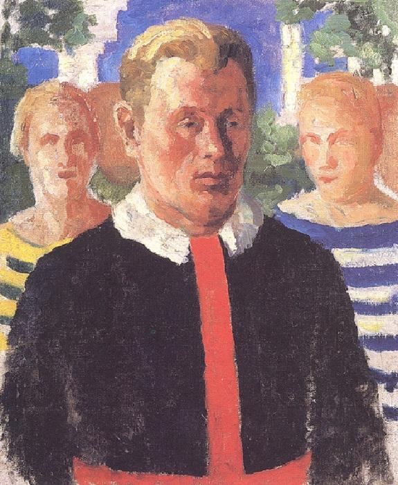 Мужской портрет. 1933-1934. Государственный Русский музей, С.-Петербург. Автор: Казимир Малевич.
