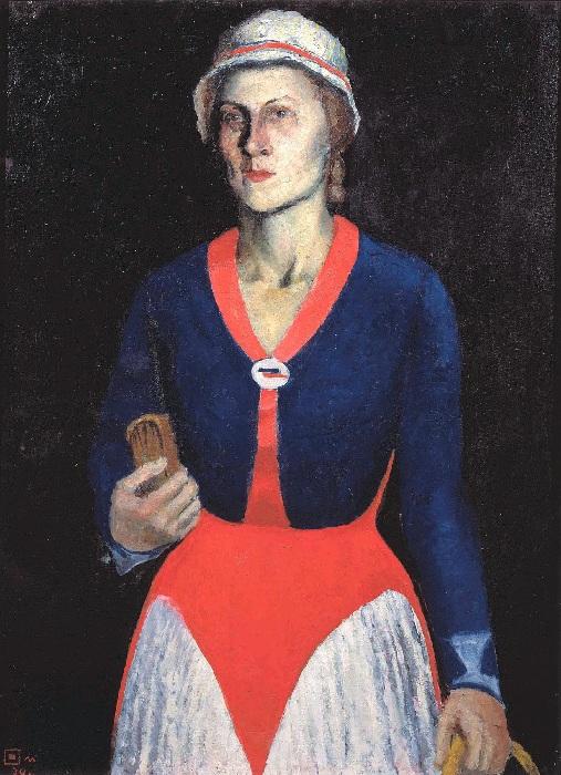 Портрет жены художника. 1934. Государственный Русский музей. Автор: Казимир Малевич.