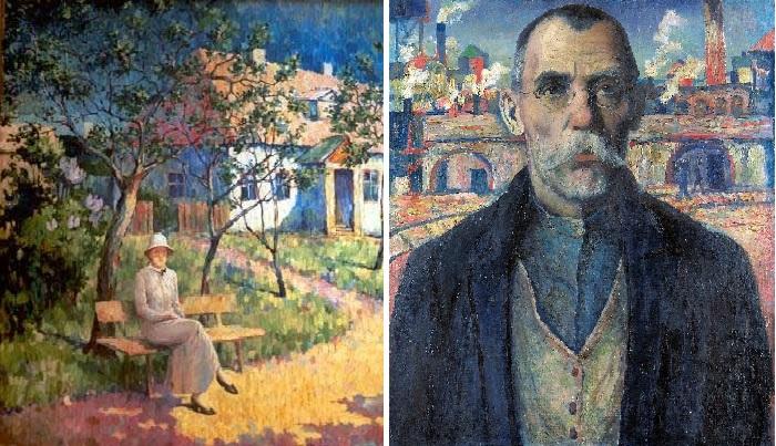Пейзаж. На даче. / Краснознаменец Жарновский. (1932).Автор: Казимир Малевич.