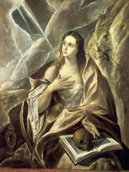 «Молитва Марии Магдалины.» 1578. Музей изящных искусств. Будапешт. Автор: Эль Греко.