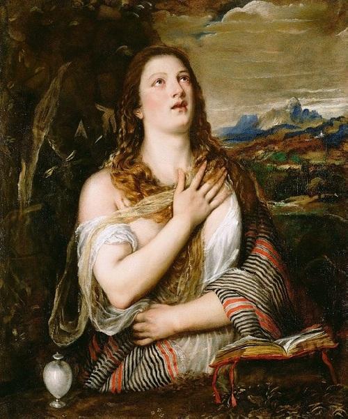 «Кающаяся Мария Магдалина». Музей Поля Гетти (США). Автор: Тициан Вечеллио.
