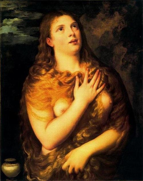 «Кающаяся Мария Магдалина». Музей во Флоренции. Автор: Тициан Вечеллио.