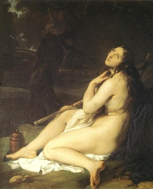 «Молитва Марии Магдалины». (1825). Автор: Хайес.
