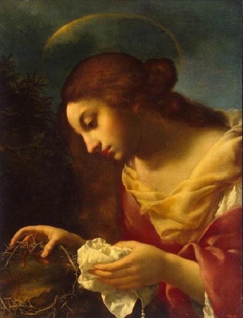 Мария Магдалина, держащая терновый венец Христа. Автор: Carlo Dolci