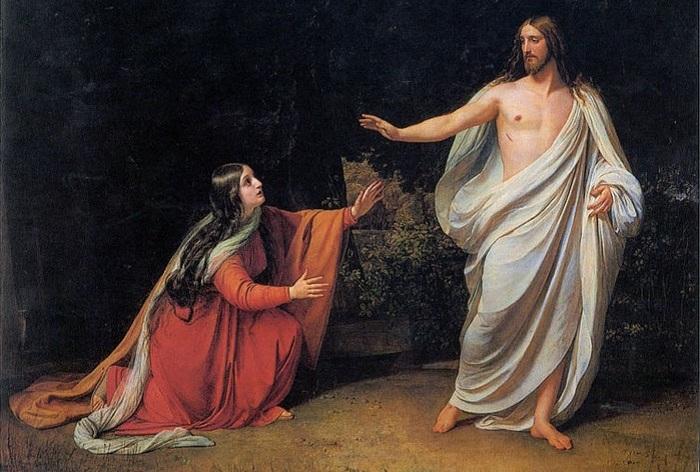 Мария Магдалина и Иисус.