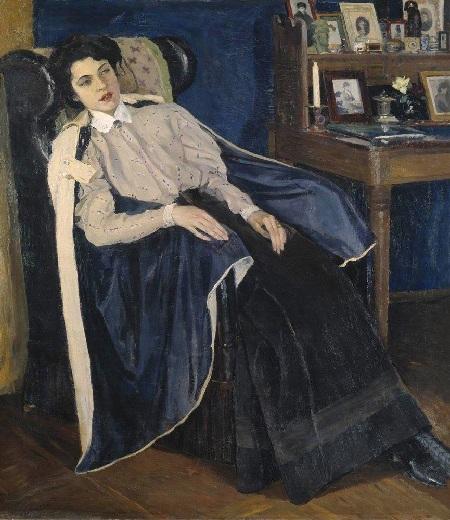 Портрет дочери Ольги . Автор: Михаил Нестеров.