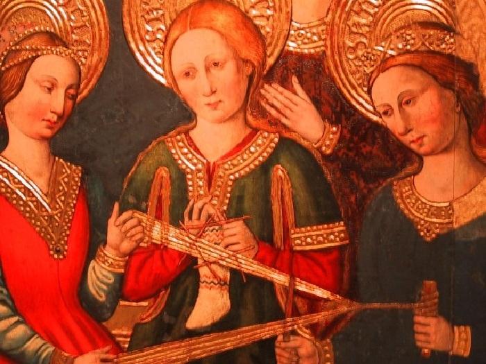 Иконография. Роспись алтаря. Приходская церковь. Испания. (1460).