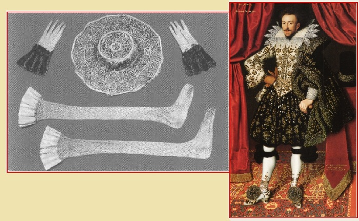 Вязаные изделия во Франции в XIII веке.