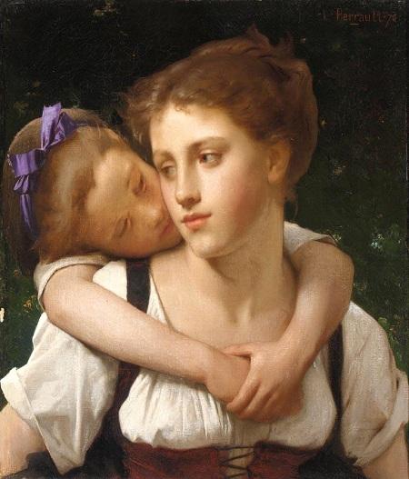 Материнство (Maternite). (1870). Автор: Leon Bazile Perrault.