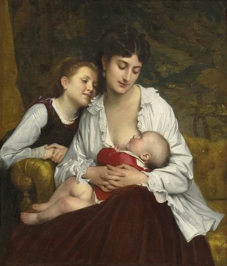 Материнская любовь (Motherly Love). (1872). Автор: Leon Bazile Perrault.