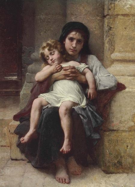 Крестьянские дети (Les enfants de paysan). (1900). Автор: Leon Bazile Perrault.