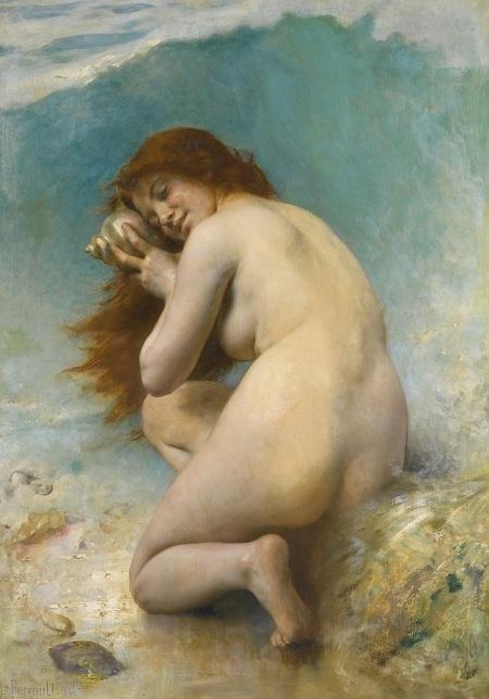 Водная нимфа (Nymphe des Eaux).(1898). Автор: Leon Bazile Perrault.