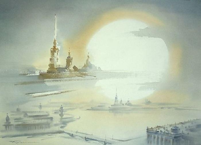 «Город Северного Солнца». Акварели Константина Кузёмы.