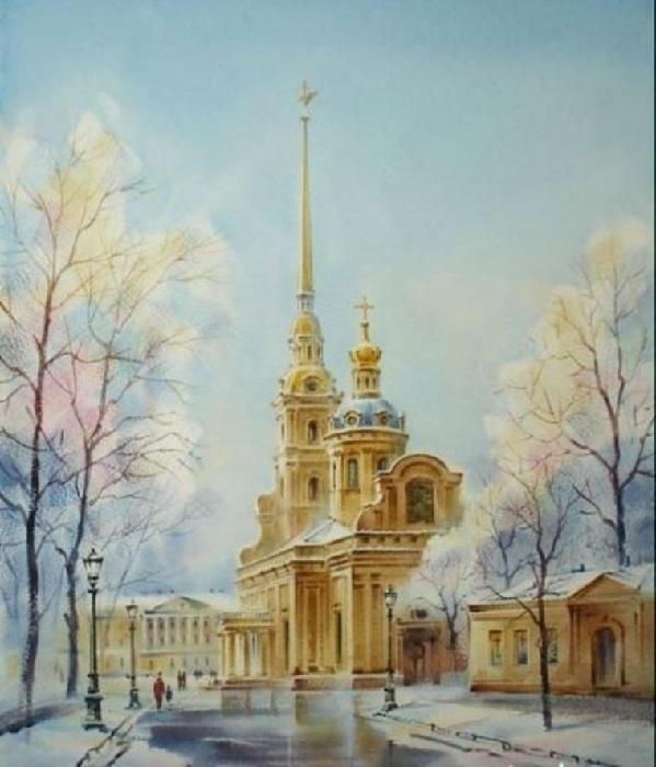 «Петропавловский собор». Акварели Константина Кузёмы.