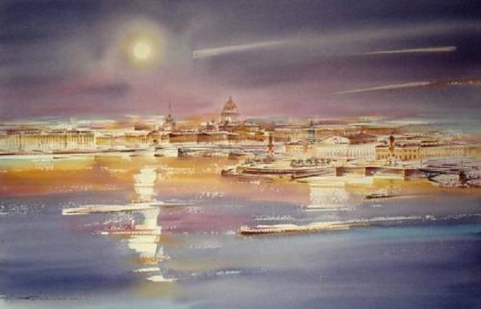 «Подлунный Град». Акварели Константина Кузёмы.