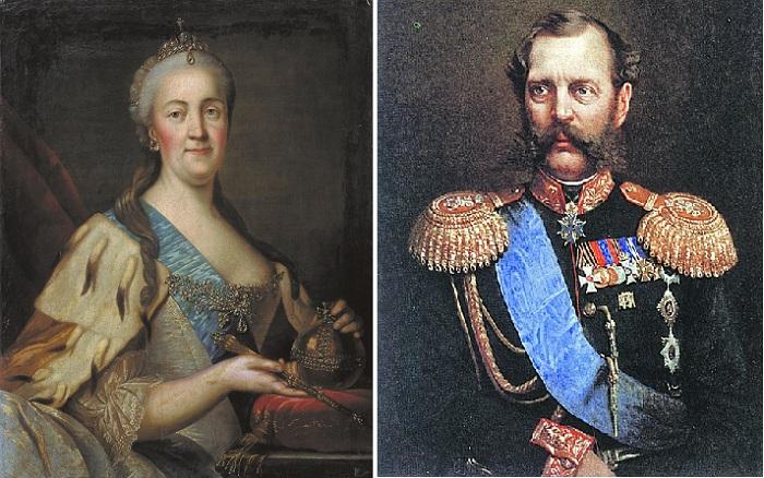 Императрица Екатерина II. / Император Александр II.