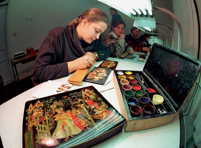 Палехские художники-миниатюрристы.