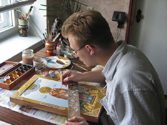 Палехские художники-иконописцы.