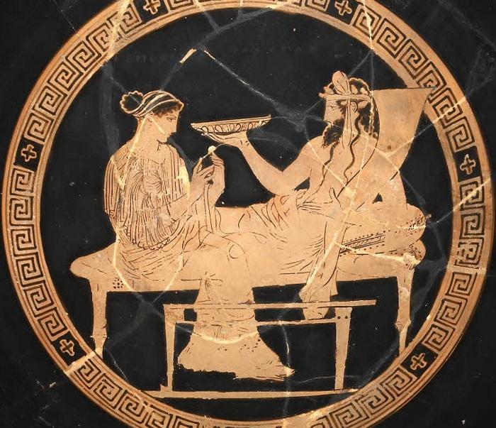 Боги мертвых -<br>Аид и Персефона. Античная вазопись.