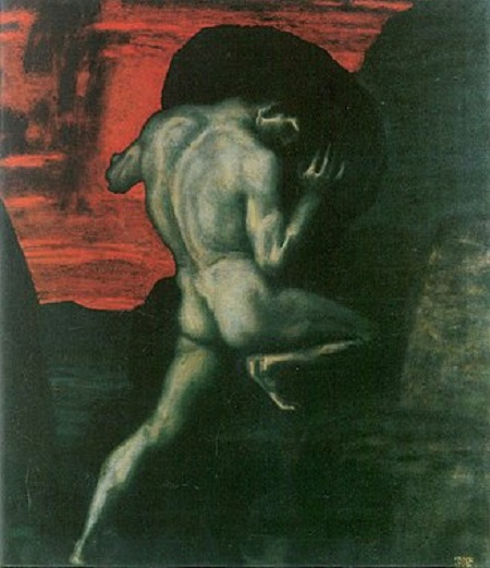 «Сизиф». Автор: Франц фон Штук.