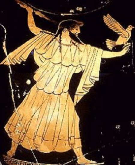 Зевс - Громовержец. Античная вазопись.