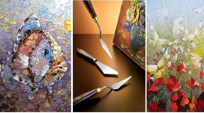 Для справки. Мастихин - это инструмент живописца: тонкий, из упругой стали в виде лопаточки или ножа, используемый для очистки палитры или для удаления еще не высохшего красочного слоя непосредственно из картинной плоскости.