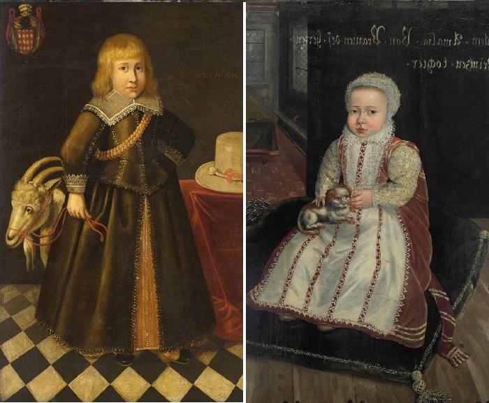 Мальчик с козлом. (1646год). Неизвестный художник. / Портрет Эмилии Антверпианы Оранье-Нассау (ок. 1582 года). Автор: Даниель ван Квеборн.