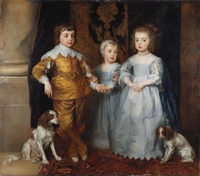 Три старших ребенка Карла Первого. (В центре двухлетний Яков II). (1635-1636 г.г.) Автор:  Ван Дейк.
