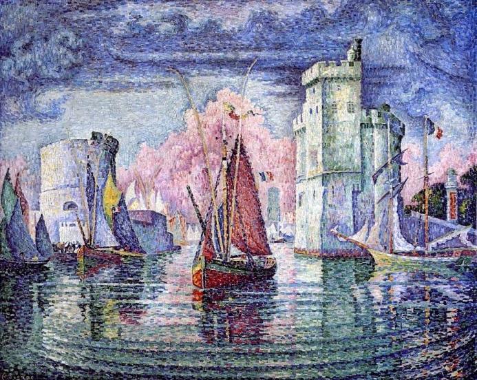 Вход в порт Ла-Рошель, 1921. Автор: Поль Синьяк.